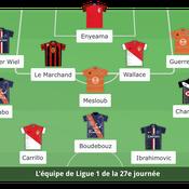 Ligue 1 : l'équipe type de la 27e journée
