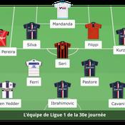 Ligue 1 : l'équipe type de la 30e journée