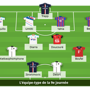 Ligue 1 : L'équipe type de la 9e journée