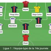 Ligue 1 : notre équipe-type de la 14e journée
