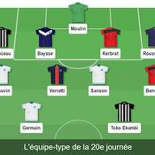 Ligue 1 : notre équipe-type de la 20e journée
