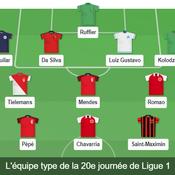 Ligue 1 : notre équipe type de la 20e journée
