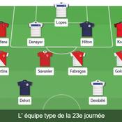 Ligue 1: notre équipe type de la 23e journée