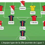 Equipe type 26e journée de Ligue 1