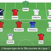 Equipe type de la 28e journée de Ligue 1