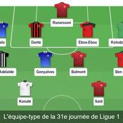 Equipe type de la 31e journée de Ligue 1