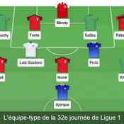 Equipe-type Ligue 1 32e journée