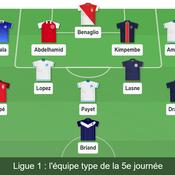Ligue 1 : notre équipe-type de la 5e journée