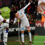 Nabil Fekir, Florian Thauvin et Radamel Falcao