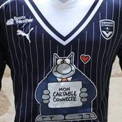 Pourquoi les joueurs de Bordeaux portent le chat de Geluck sur leur maillot