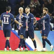 Angel Di Maria (de dos), Kylian Mbappé, Mauro Icardi et Neymar Jr