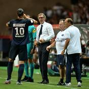 Zlatan Ibrahimovic (de dos) et Laurent Blanc