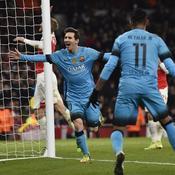 En deux accélérations, Messi et le Barça ont fait plier Arsenal