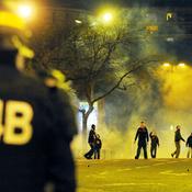 Affrontement entre policiers et hooligans
