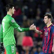Thibault Courtois Lionel Messi Ligue des champions