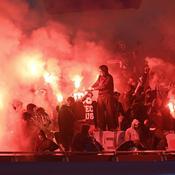 Fumigènes lors de PSG-Real