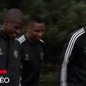 Eto'o à l'entrainement, Mourinho décontracté
