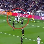 La tête qui propulse Benzema meilleur buteur français en Ligue des champions