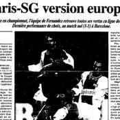 Le Paris-SG version européenne