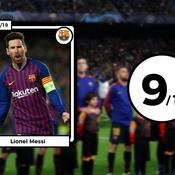 Les notes des Barcelonais face à Lyon : une charnière sereine et un Messi divin