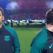 Lionel Messi spectateur de l'accueil réservé aux joueurs par le Parc des Princes