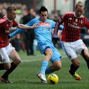 Hamsik contre le Milan AC