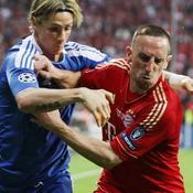 Fernando Torres (Chelsea) contre Franck Ribery (Bayern Munich)