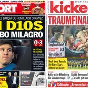 Les Unes des journaux Sport et Kicker du jeudi 2 mai