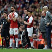 Olivier Giroud, Alexis Sanchez et Arsène Wenger