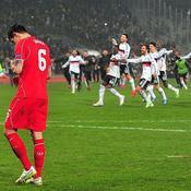 Liverpool et l'Angleterre à terre, l'Italie au top