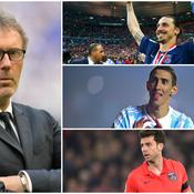 Laurent Blanc, Zlatan Ibrahimovic, Angel Di Maria et Thiago Motta