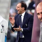 Didier Deschamps, Max Allegri et Pep Guardiola