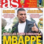 Le journal du mercato : «Toutes les pistes mènent à Mbappé», affirme le quotidien espagnol As