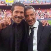 Andrea Berta (directeur sportif de l'Atlético Madrid) - ici avec Diego Simeone