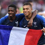 Ousmane Dembélé et Kylian Mbappé