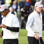 Tiger Woods et Steve Stricker pour les USA