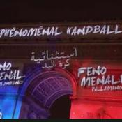 L'Arc de triomphe s'illumine pour le mondial de handball