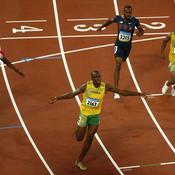 Finale du 100 m des JO de Pékin