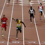 Finale du 4x100 m des JO de Londres