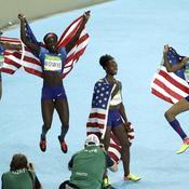 La joie du relais 4x100 américain