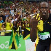 Usain Bolt en or sur le 4x100 m