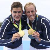 Jérémie Azou et Pierre Houin (deux de couple poids légers, aviron) - Or