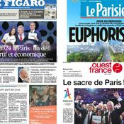 «Historique», «euphorisant», «défi»… La presse fait la part belle à Paris 2024
