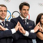 Emmanuel Macron, Tony Estanguet et Anne Hidalgo