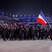 Le défilé des 48 athlètes français