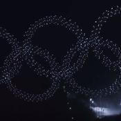 JO 2018 : une nuée de 1218 drones à PyeongChang dessine les anneaux olympiques