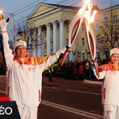 Arrivée de la flamme olympique à Sotchi