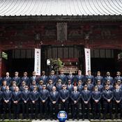 Les 31 Bleus et le staff du XV de France