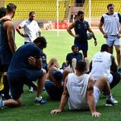 Les Bleus à l'entraînement au stade Louis-II de Monaco