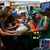 Les Springboks champions du monde accueillis en héros à Johannesburg